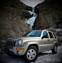 Jeep and Frozen Fall (1 of 1)