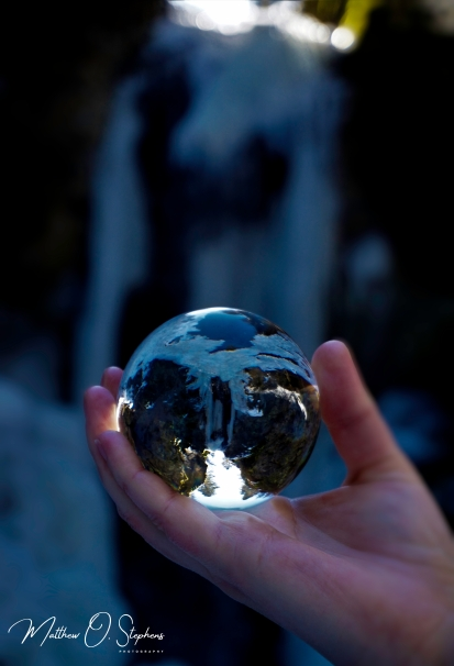 Mystic Falls through a Lensball