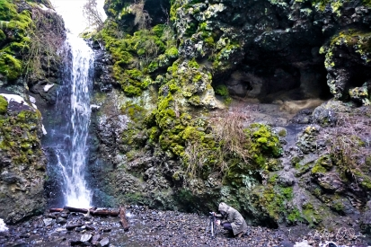 Nate photographing the waterfall
