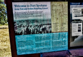 Information sign regarding Fort Spokane