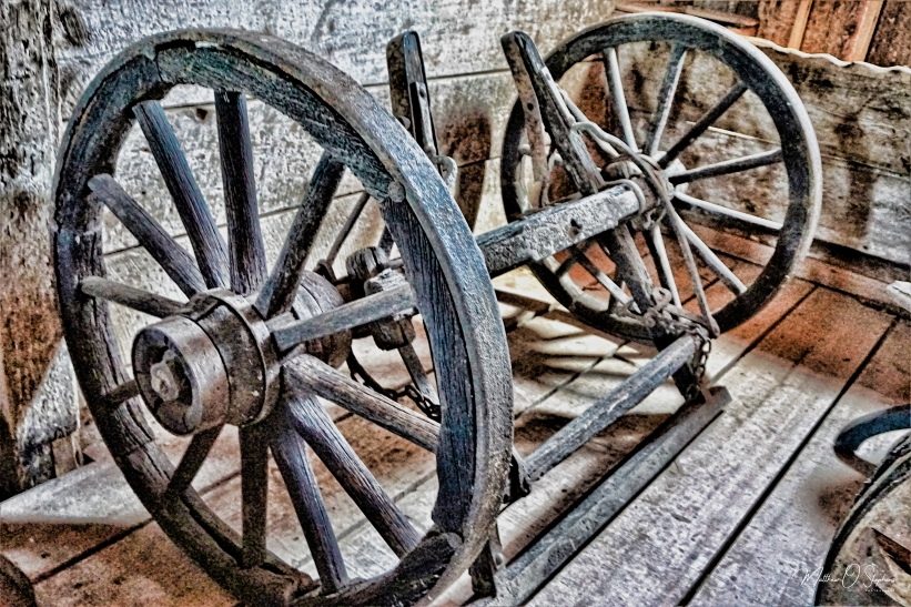 Old wheels in the Quartermaster Stable